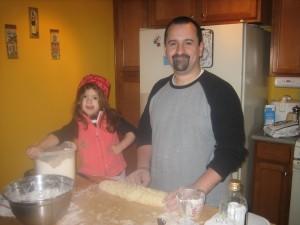 Vanessa y su papa