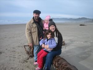 Un dia de familia en la playa.