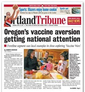 Portada del Portland Tribune